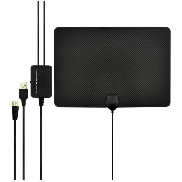 Antena para Televisión Digital y Análoga con Amplificador