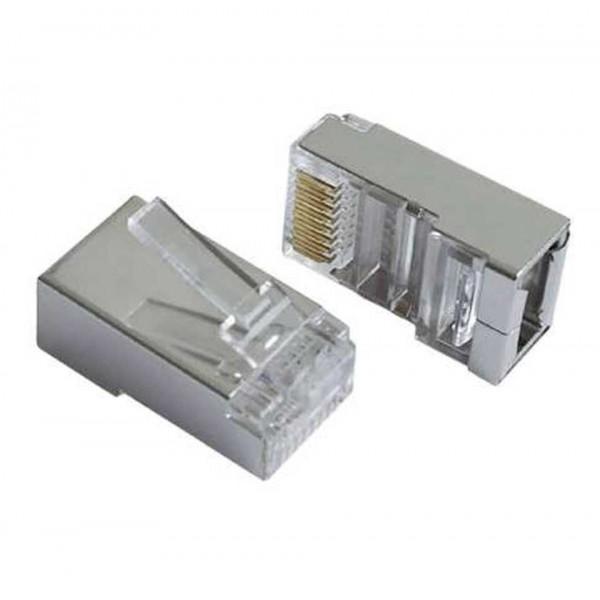 Conector Rj-45 Categoria 6E Metálico pack 10 Unidades